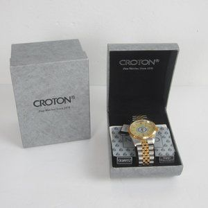 Vtg Mens CROTON Quartz Watch NEW IN BOX